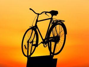 sunset, bike